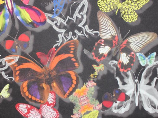 Butterfly designer fabric