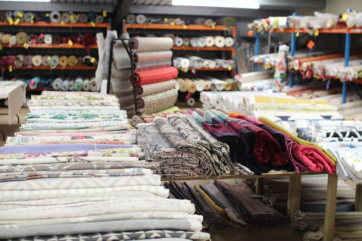 Ultimate Fabrics warehouse for Curtains, Blinds & Upholstery projects near Tiverton